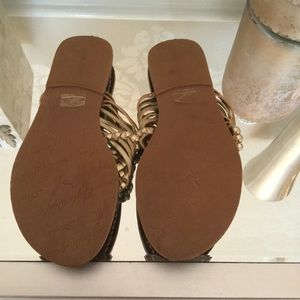American Eagle Outfitters Shoes - Never Worn gold woven sandals